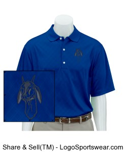 Greg Norman Adult Play Dry Diamond Embossed Polo Design Zoom